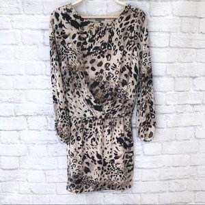 Vince Camuto leopard long sleeve flowy dress